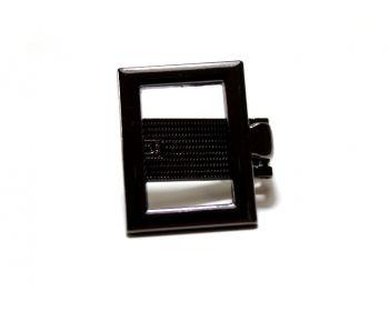 Κούμπωμα Κλιψ τετράγώνο 3mm Μαύρο Νίκελ