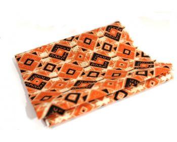 Φόδρα Επαγγελματική Εμπριμέ Φ1,40εκ,Πορτοκαλί με Σχέδια