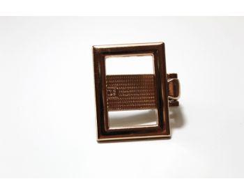 Κούμπωμα Κλιψ τετράγωνο 3mm χρυσό