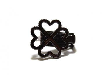Κούμπωμα Κλιψ Καρδούλες 3mm Μαύρο Νίκελ