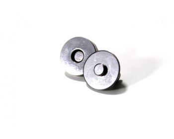 Μαγνητάκι με ποδαράκι 18mm Μαύρο Νίκελ