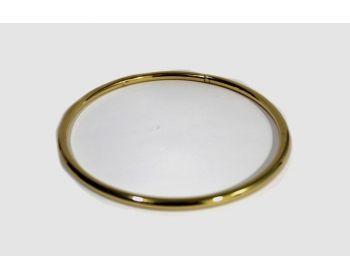 Μεταλλικό Χεράκι Στρογγυλό 12,5εκ Χρυσό