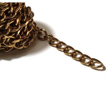 Μεταλλική Αλυσίδα 2,8 Χ 2,2 εκ. Χρυσό