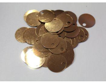 Παγιέτες 20mm με τρυπούλα 100γρ. Σκούρο Χρυσό